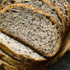 Buckwheat and Poppy Seed Sourdough Bread